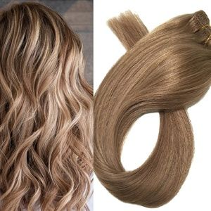 "18"" Human Hair Clip in Extensions 70 Grams #12"